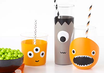 Halloween Monster Glass Set