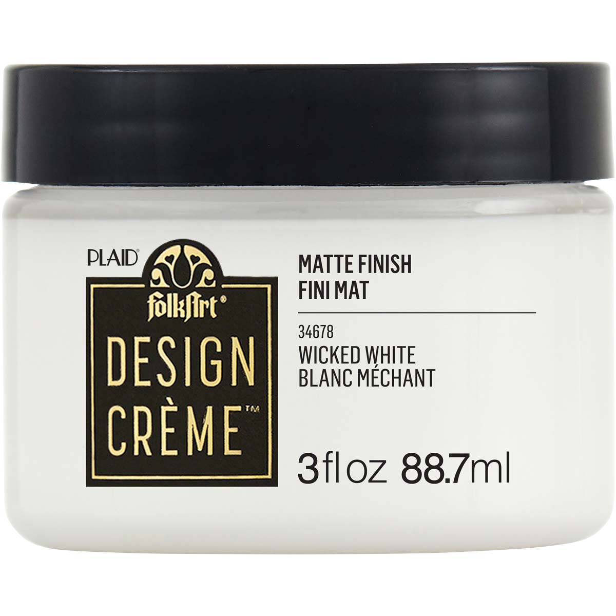 FolkArt ® Design Creme™ - Wicked White, 3 oz. - 34678