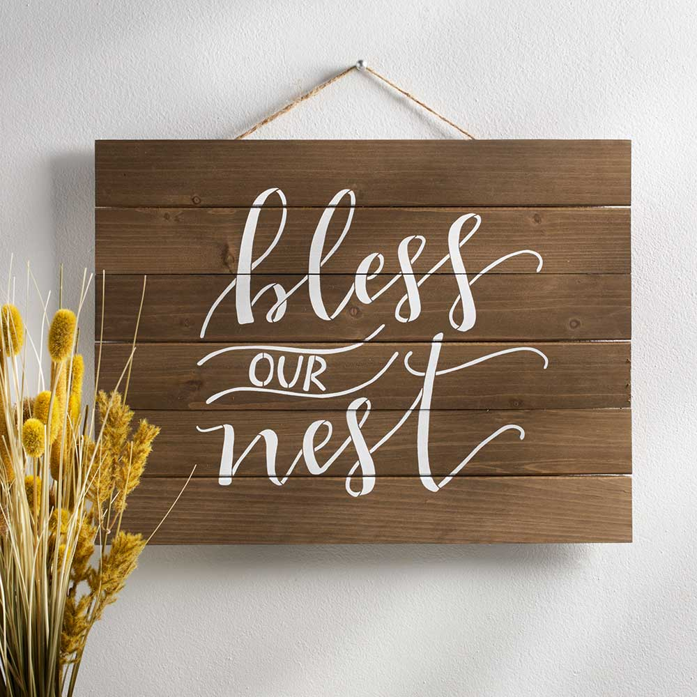FolkArt ® Painting Stencils - Sign Making - Project Studio™ Bless Our Nest - 63274