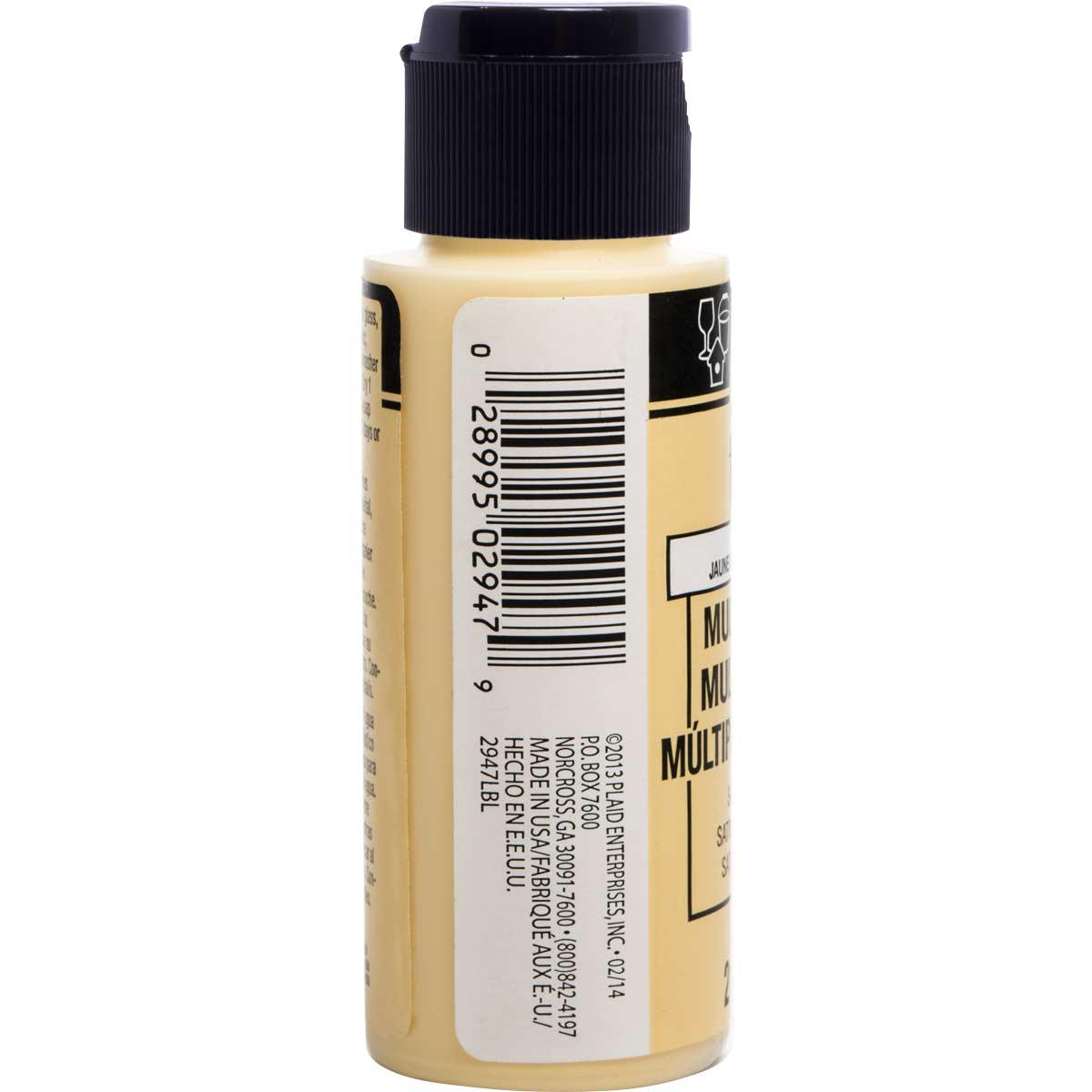 FolkArt ® Multi-Surface Satin Acrylic Paints - Sunflower, 2 oz. - 2947