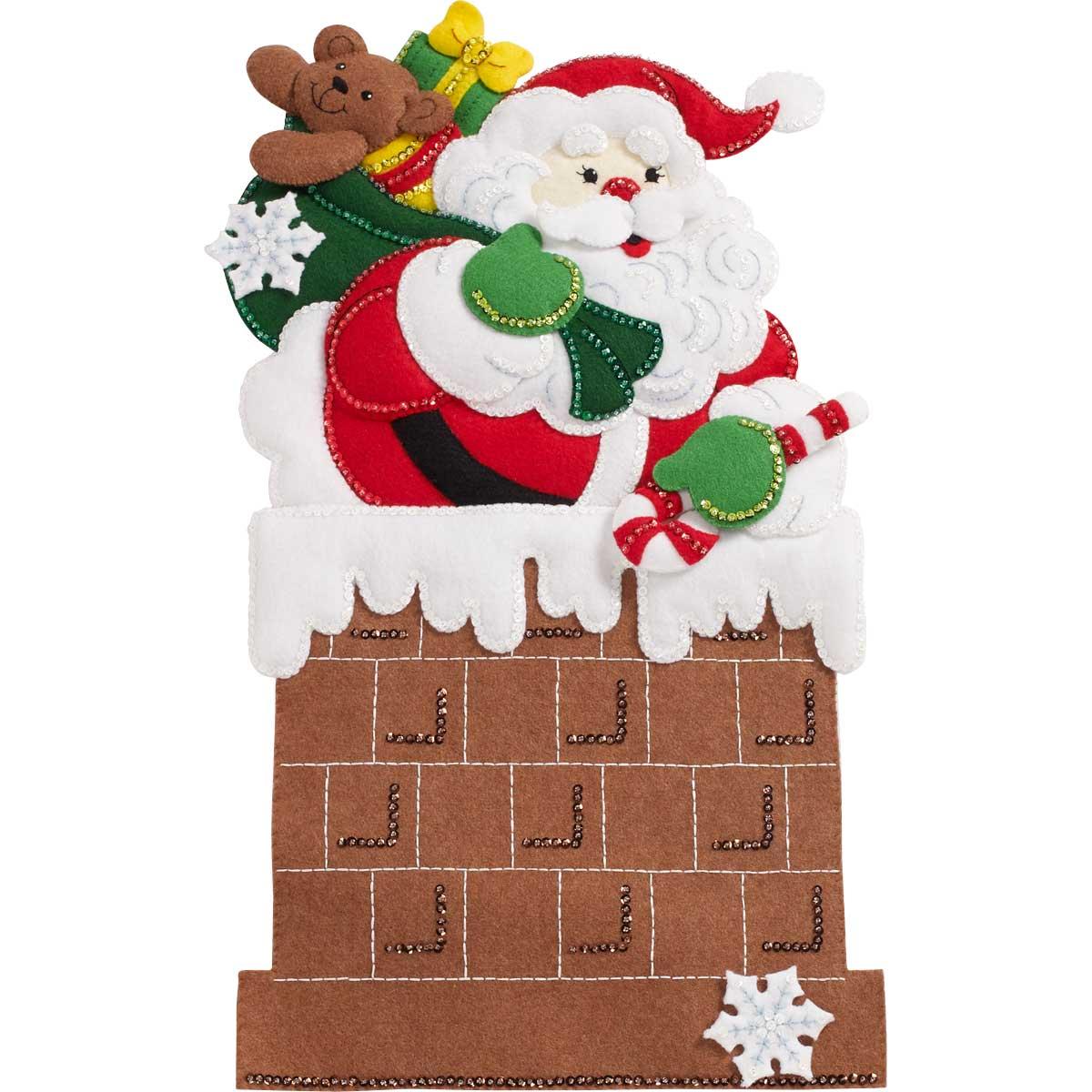 Bucilla ® Seasonal - Felt - Home Decor - Door/Wall Hanging Kits - Down The Chimney