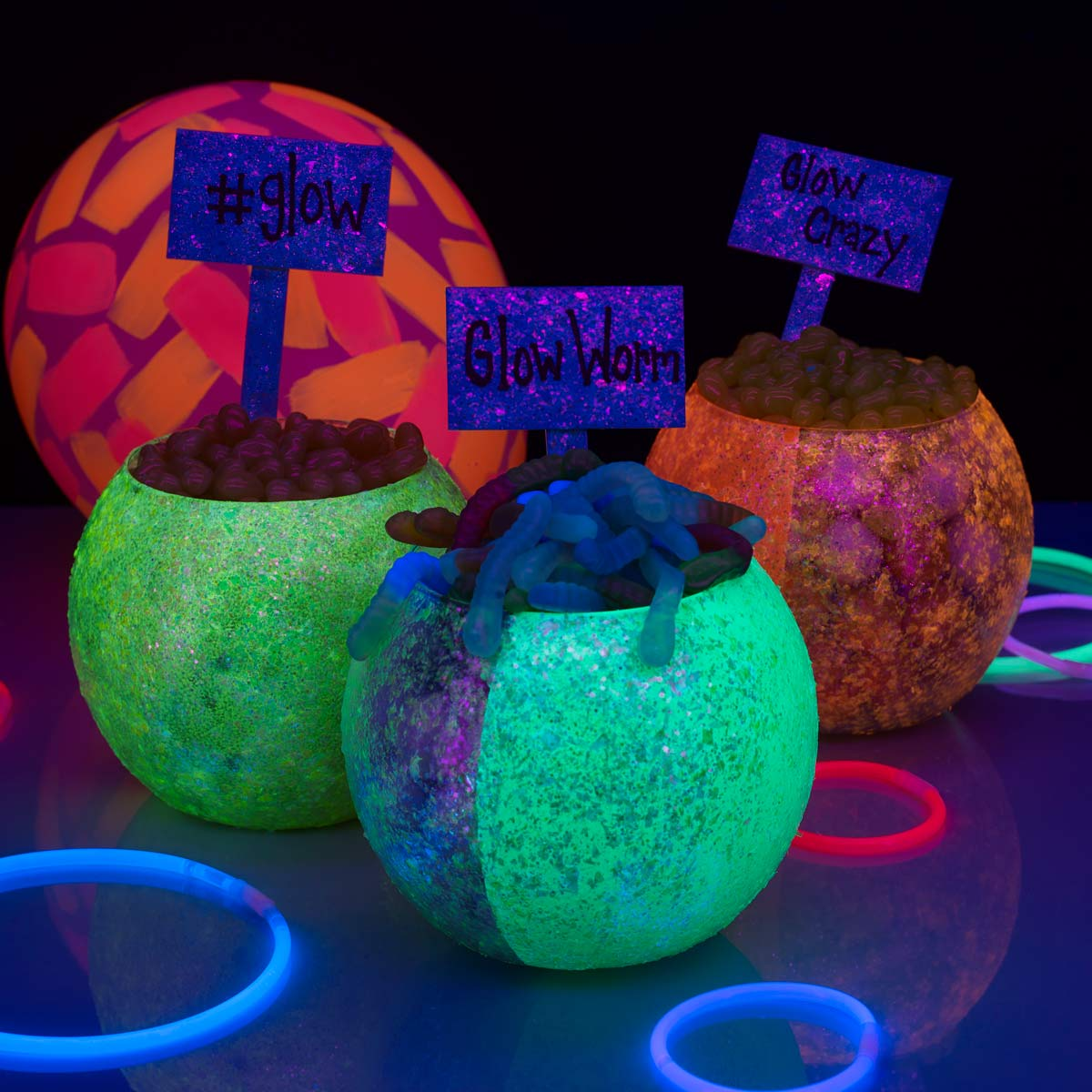 Glow-in-the-Dark Candy Table Signs