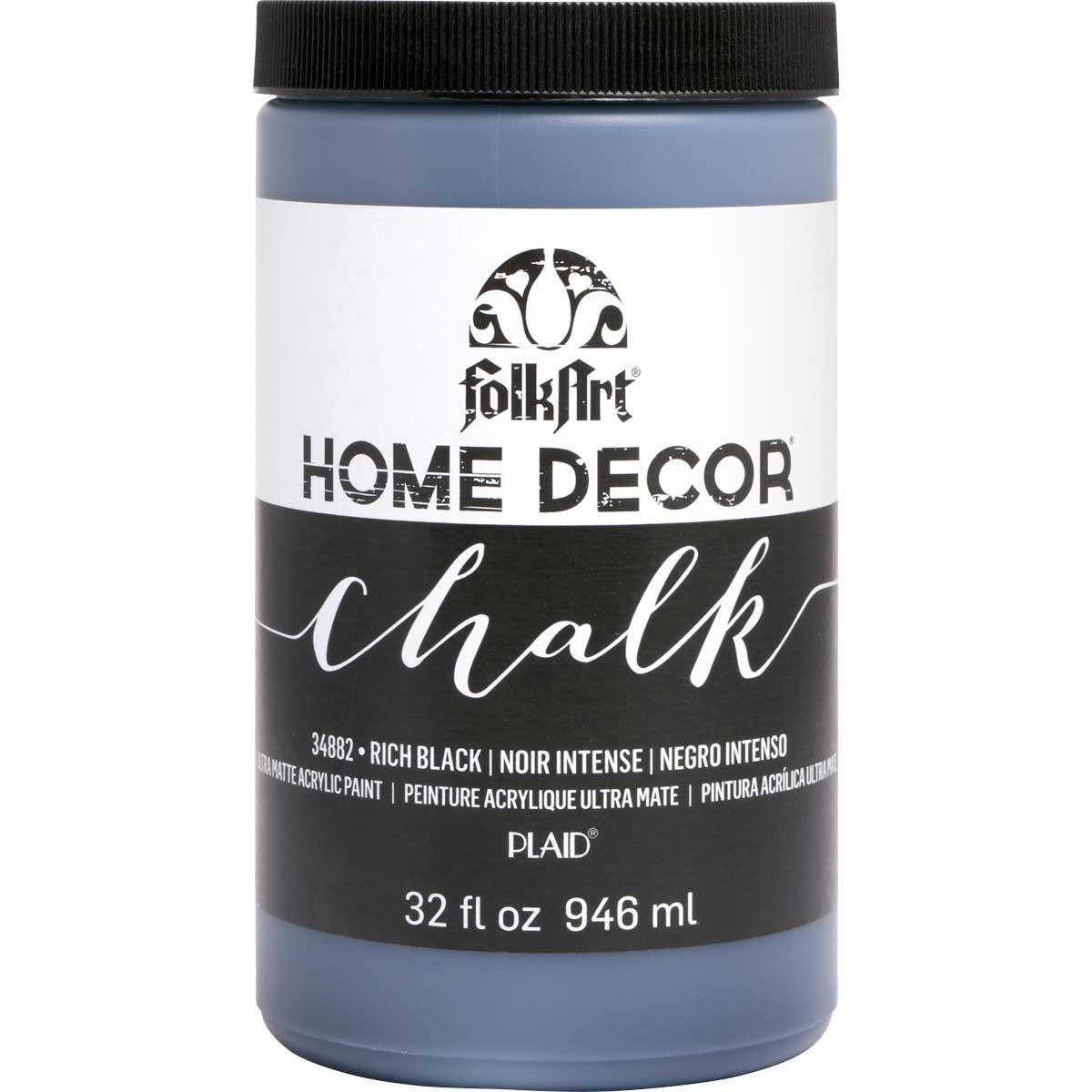 FolkArt ® Home Decor™ Chalk - Rich Black, 32 oz. - 34882