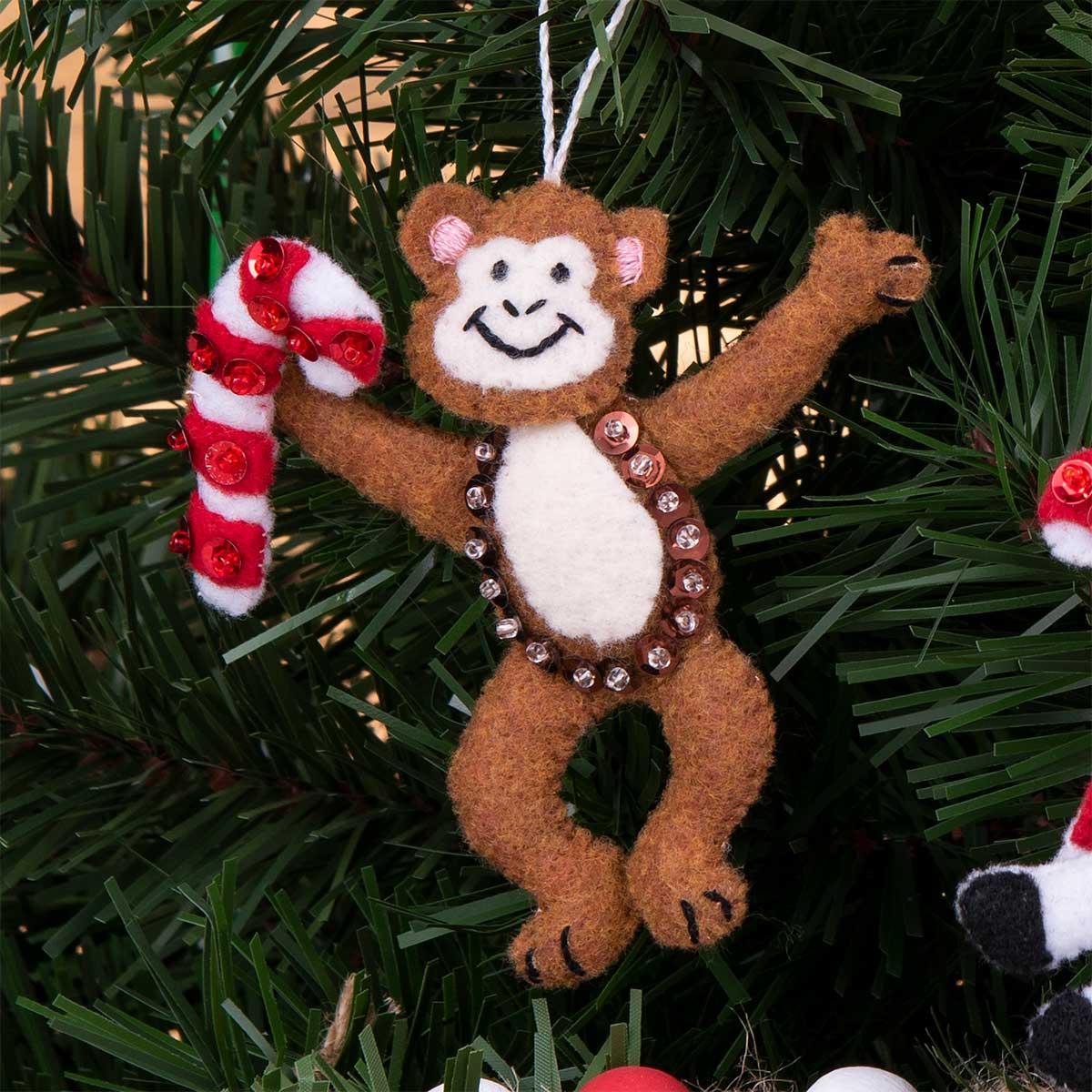 Bucilla ® Seasonal - Felt - Ornament Kits - Jungle Santa - 89268E