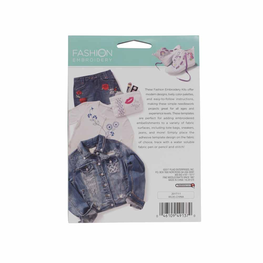 Bucilla ® Fashion Embroidery Kit - Shashiko Floral