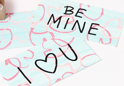 DIY Stamped Hearts  Valentine Cards for Kids