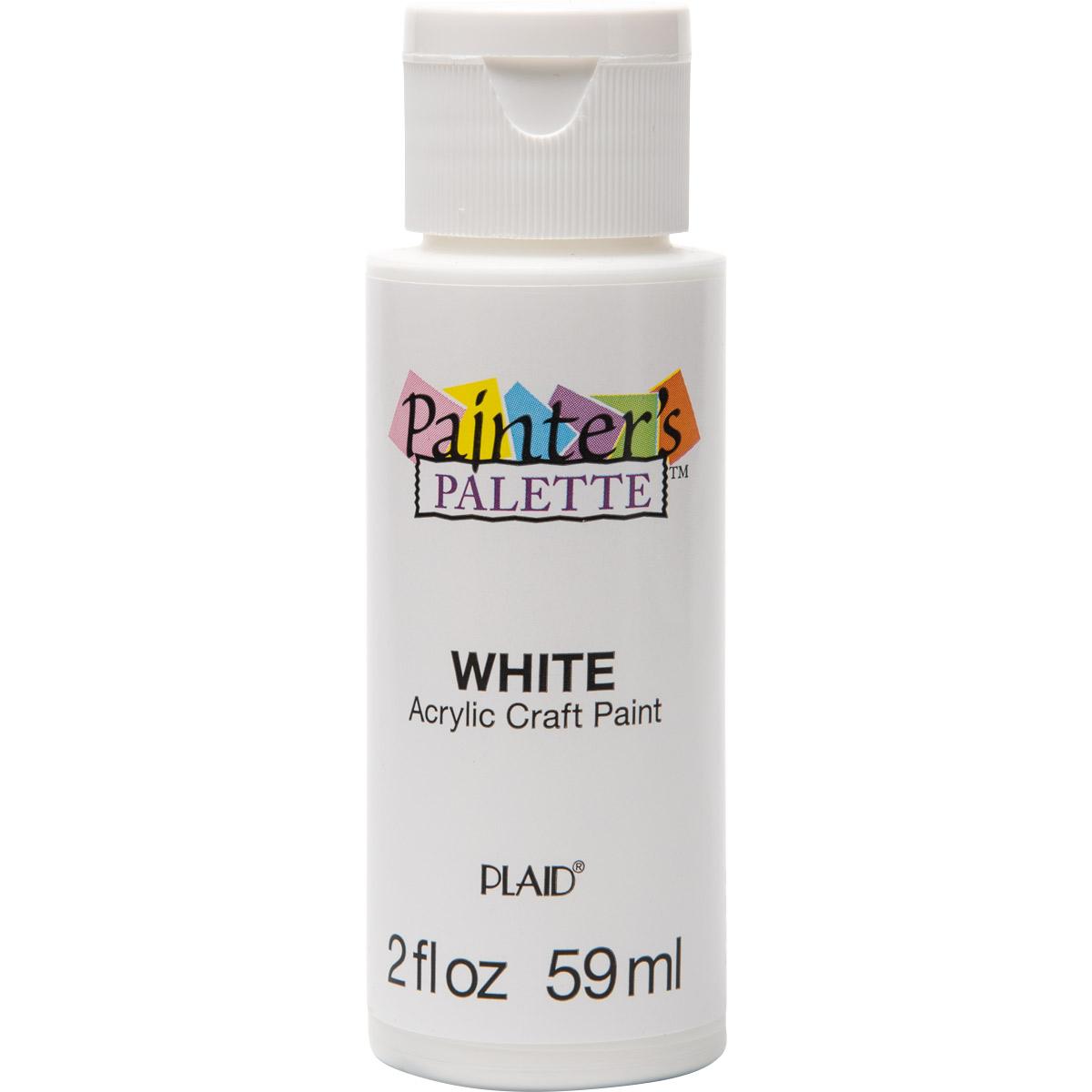Plaid ® Painter's Palette™ Acrylic Paint - White, 2 oz. - 23888