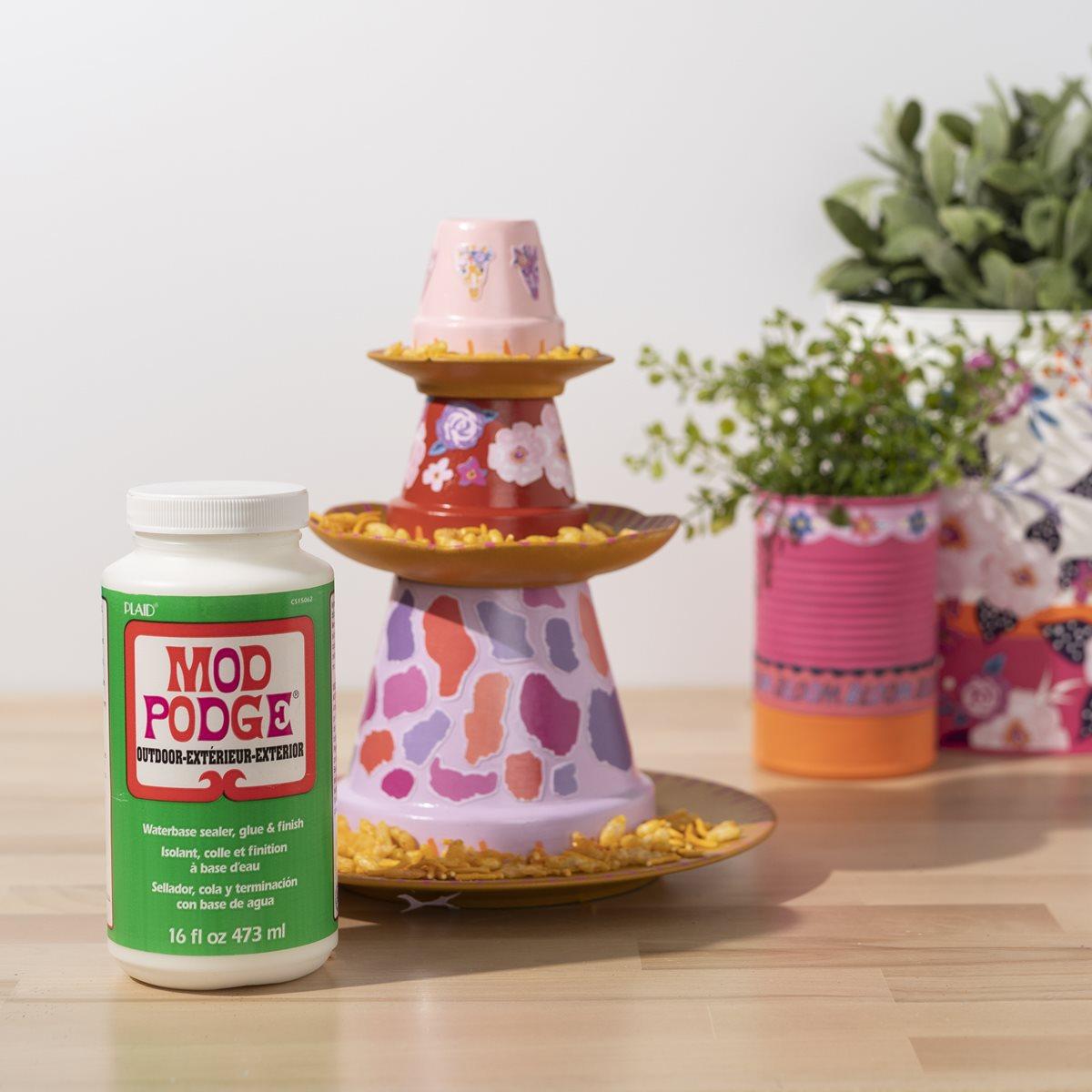 Mod Podge DIY Bird Feeder