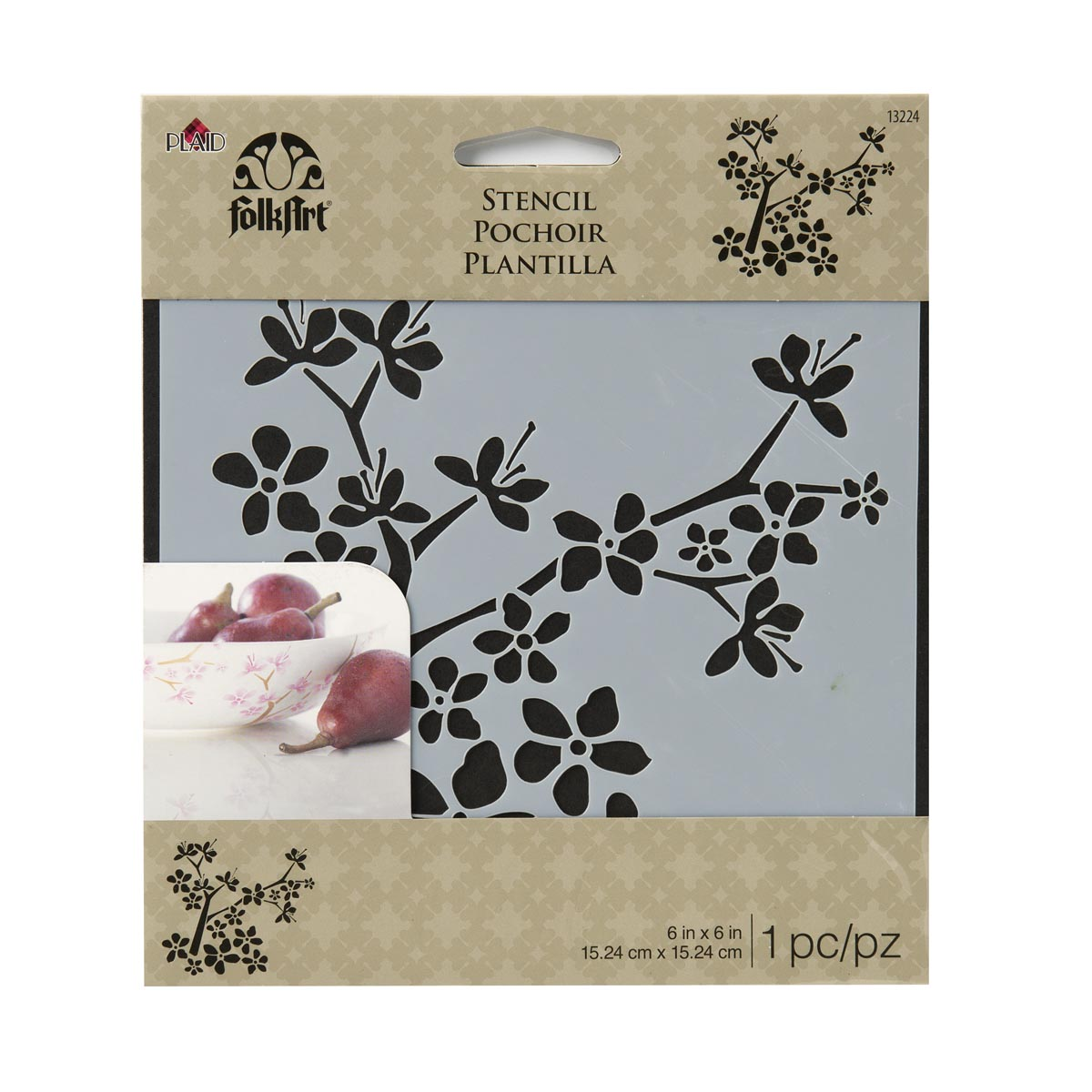 FolkArt ® Painting Stencils - Small - Cherry Blossom