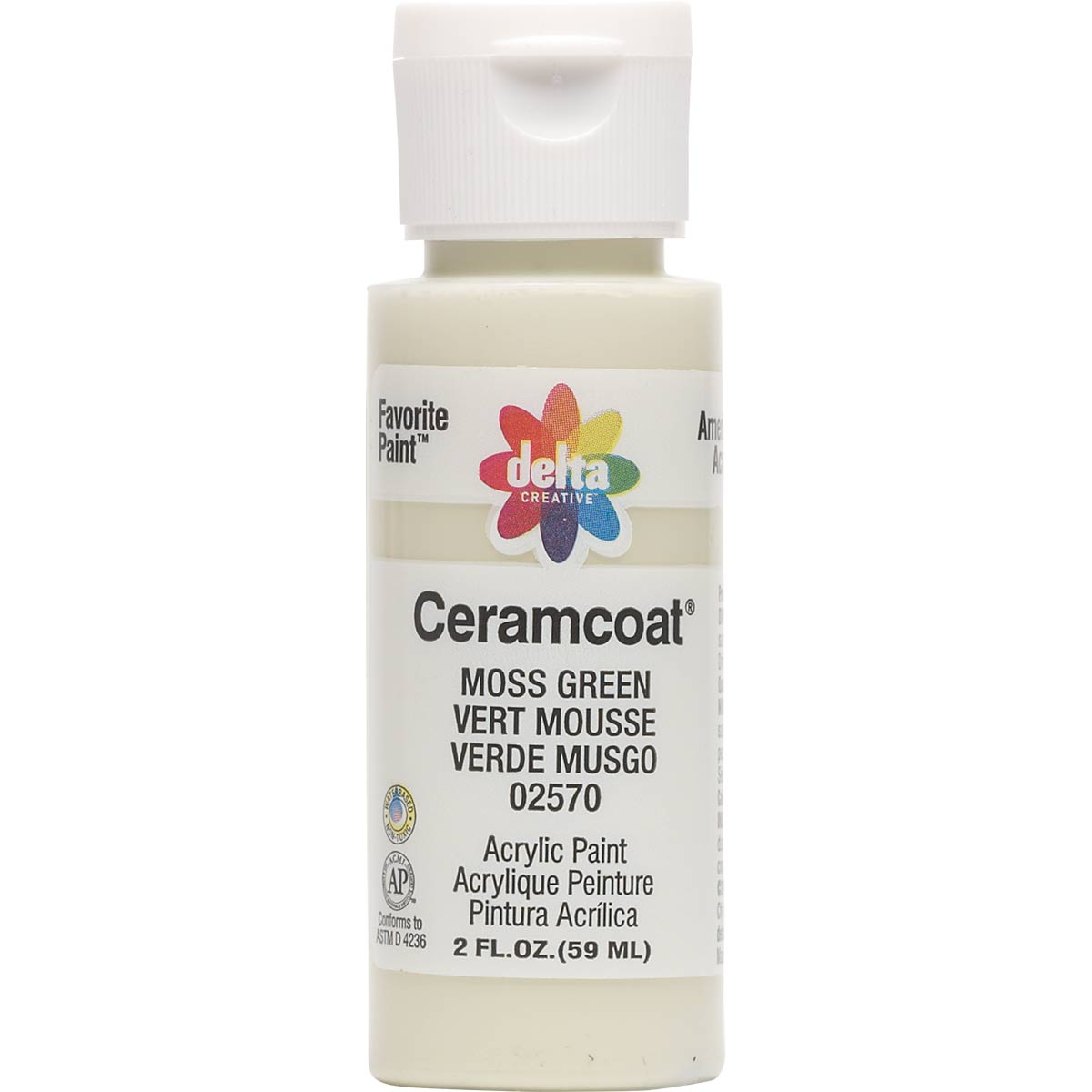 Delta Ceramcoat ® Acrylic Paint - Moss Green, 2 oz.