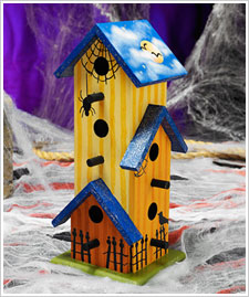 Trick or Treat Silhouette Birdhouse