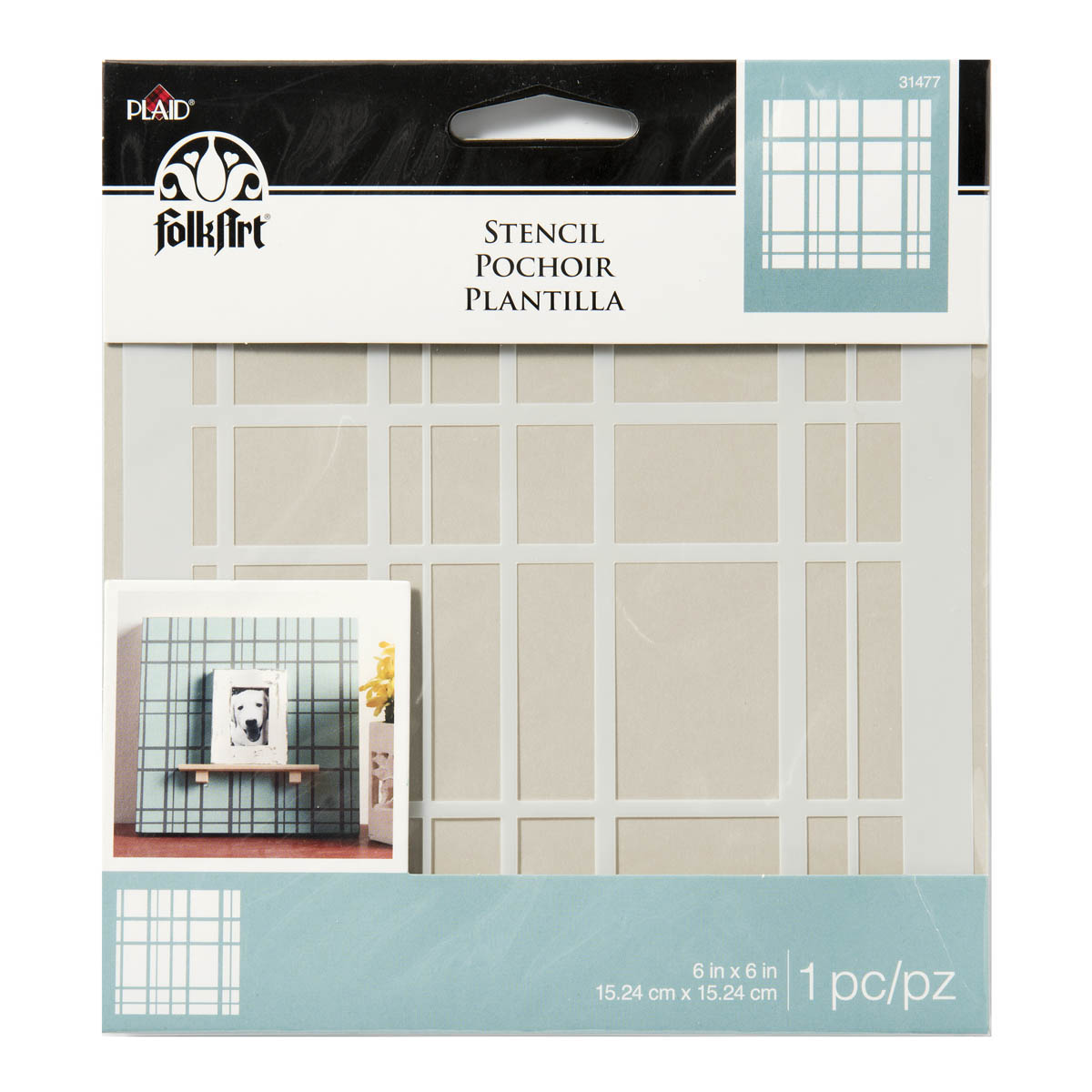 FolkArt ® Painting Stencils - Small - Plaid Design - 31477