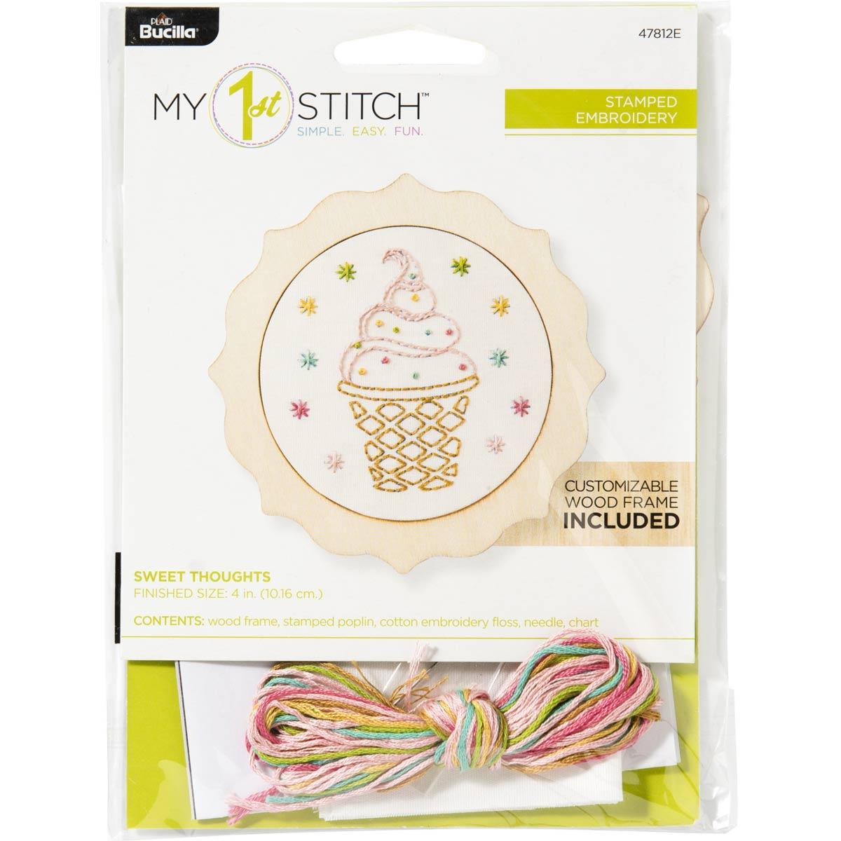 Bucilla ® My 1st Stitch™ - Stamped Cross Stitch Kits - Sweet Thoughts
