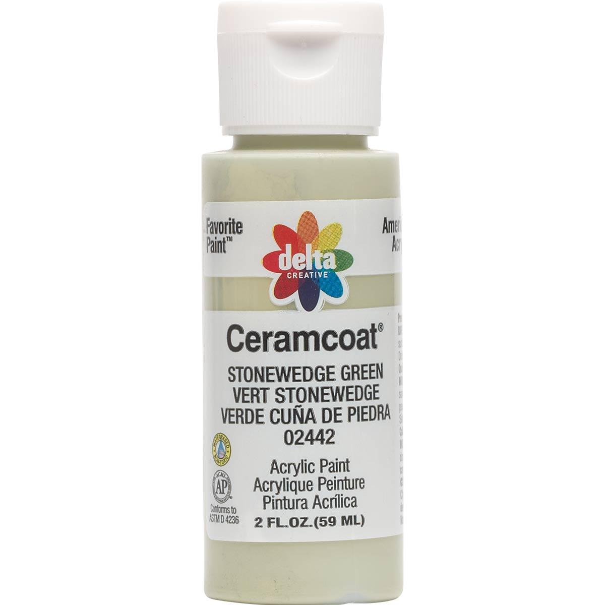Delta Ceramcoat ® Acrylic Paint - Stonewedge Green, 2 oz. - 024420202W