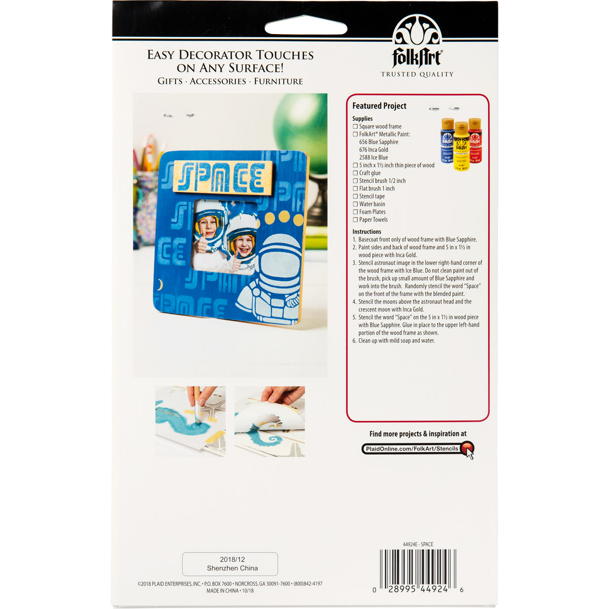 FolkArt ® Stencil Value Packs - Space, 6