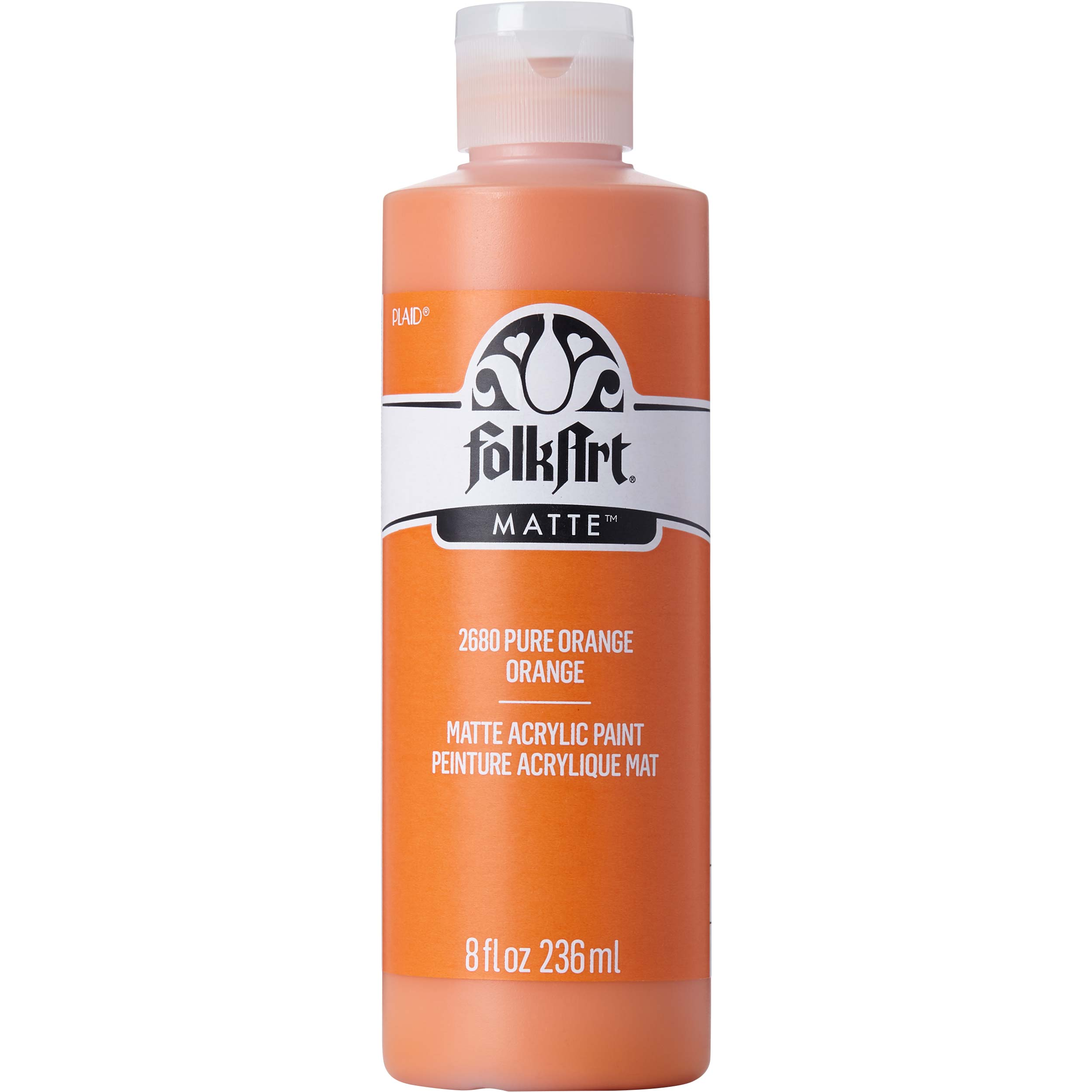 FolkArt ® Acrylic Colors - Pure Orange, 8 oz. - 2680
