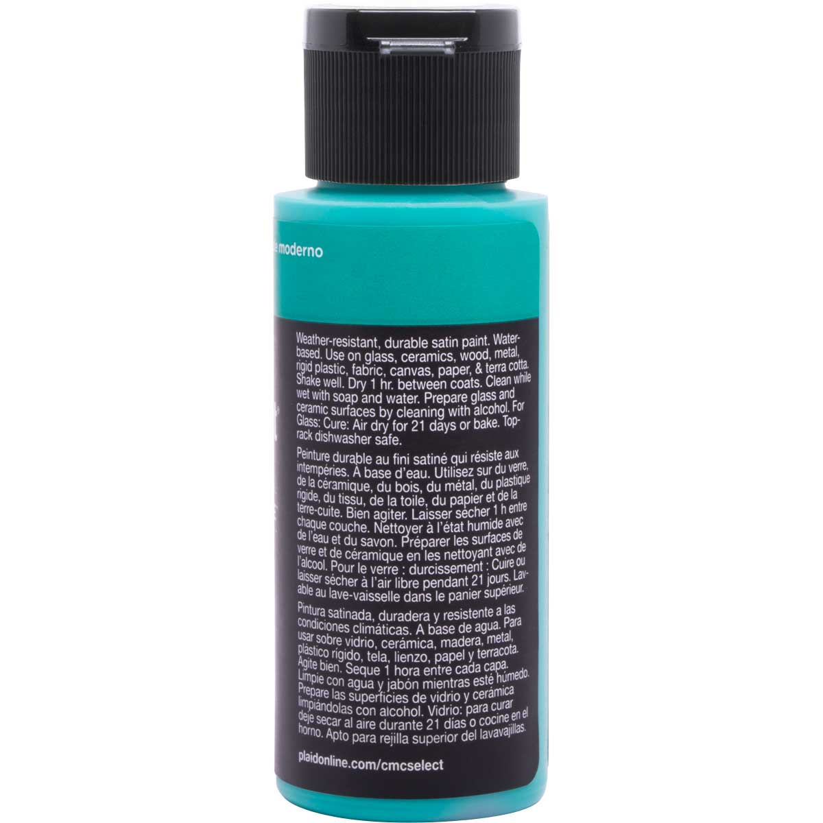 Delta Ceramcoat ® Select Multi-Surface Acrylic Paint - Satin - Modern Jade, 2 oz.