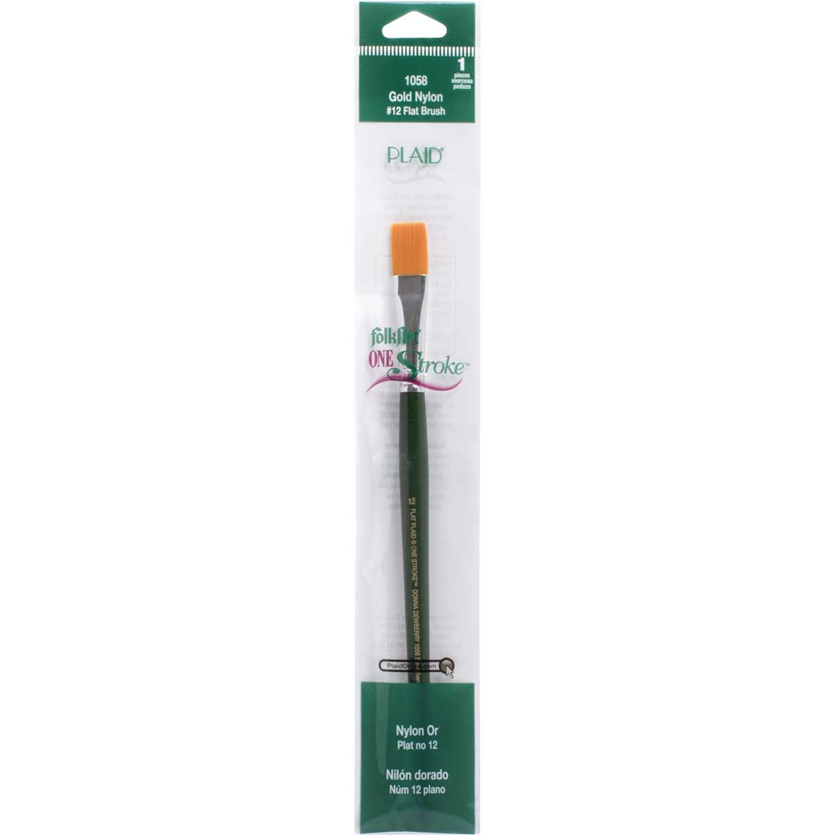 FolkArt ® One Stroke™ Brushes - Flat, #12