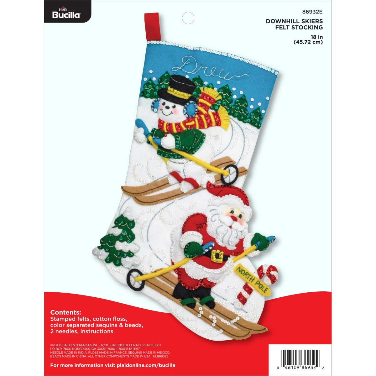 Bucilla ® Seasonal - Felt - Stocking Kits - Downhill Skiers