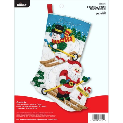 Bucilla ® Seasonal - Felt - Stocking Kits - Downhill Skiers - 86932E