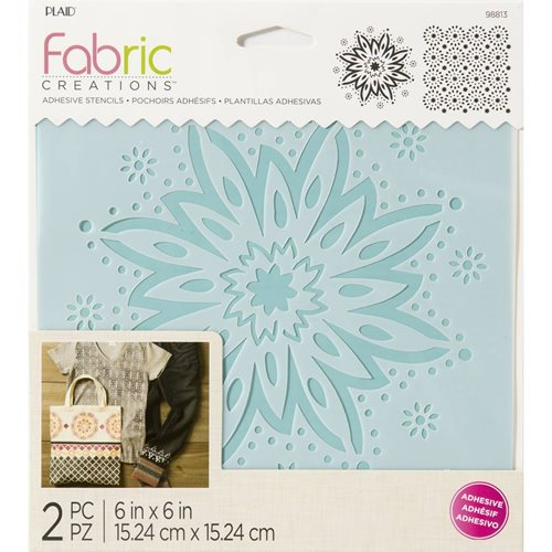 "Fabric Creations™ Adhesive Stencils - Boho Flower, 6"" x 6"" - 98813"