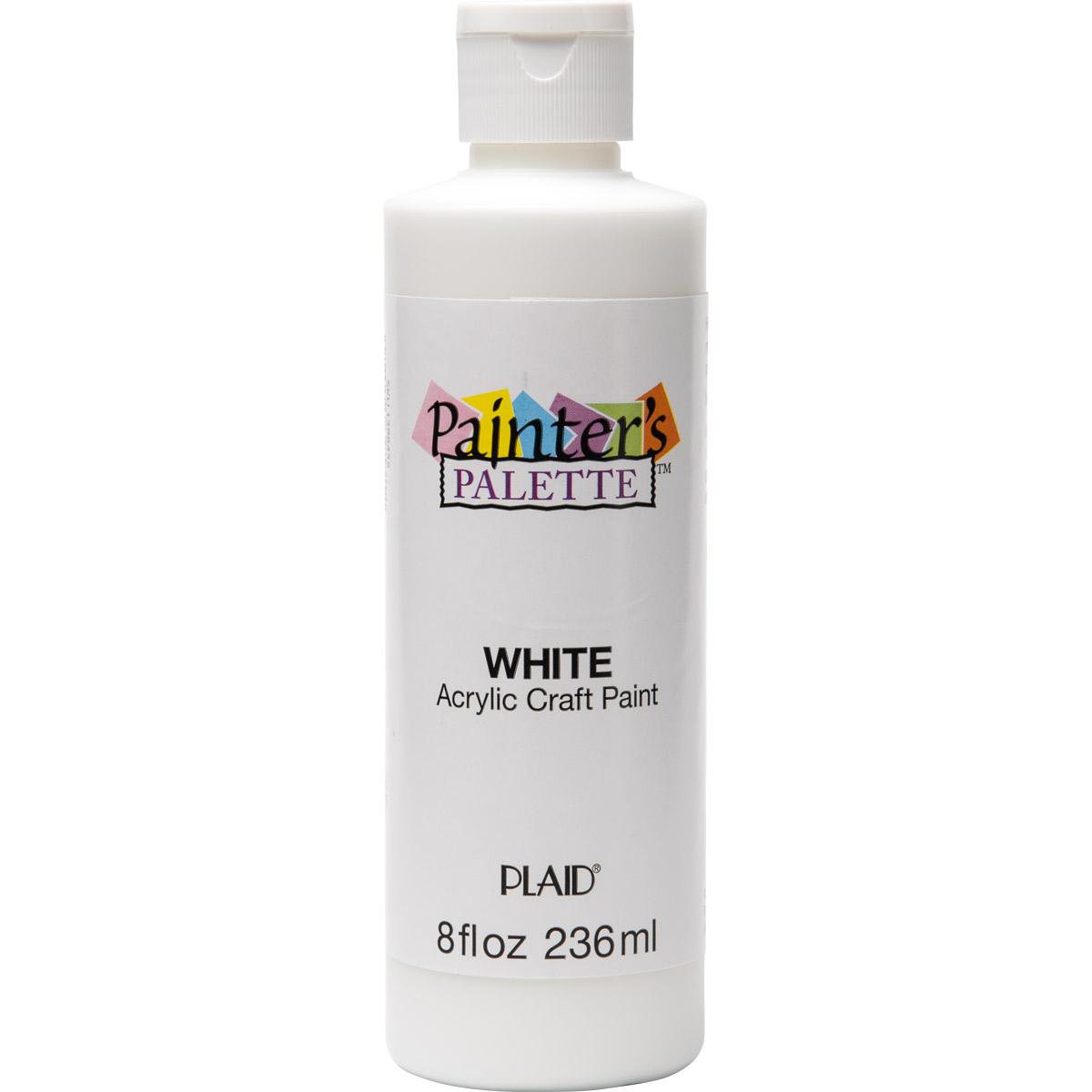 Plaid ® Painter's Palette™ Acrylic Paint - White, 8 oz.