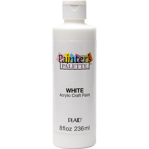 Plaid ® Painter's Palette™ Acrylic Paint - White, 8 oz.
