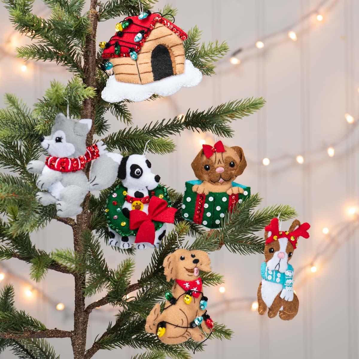 Bucilla ® Seasonal - Felt - Ornament Kits - Christmas Dogs - 89283E