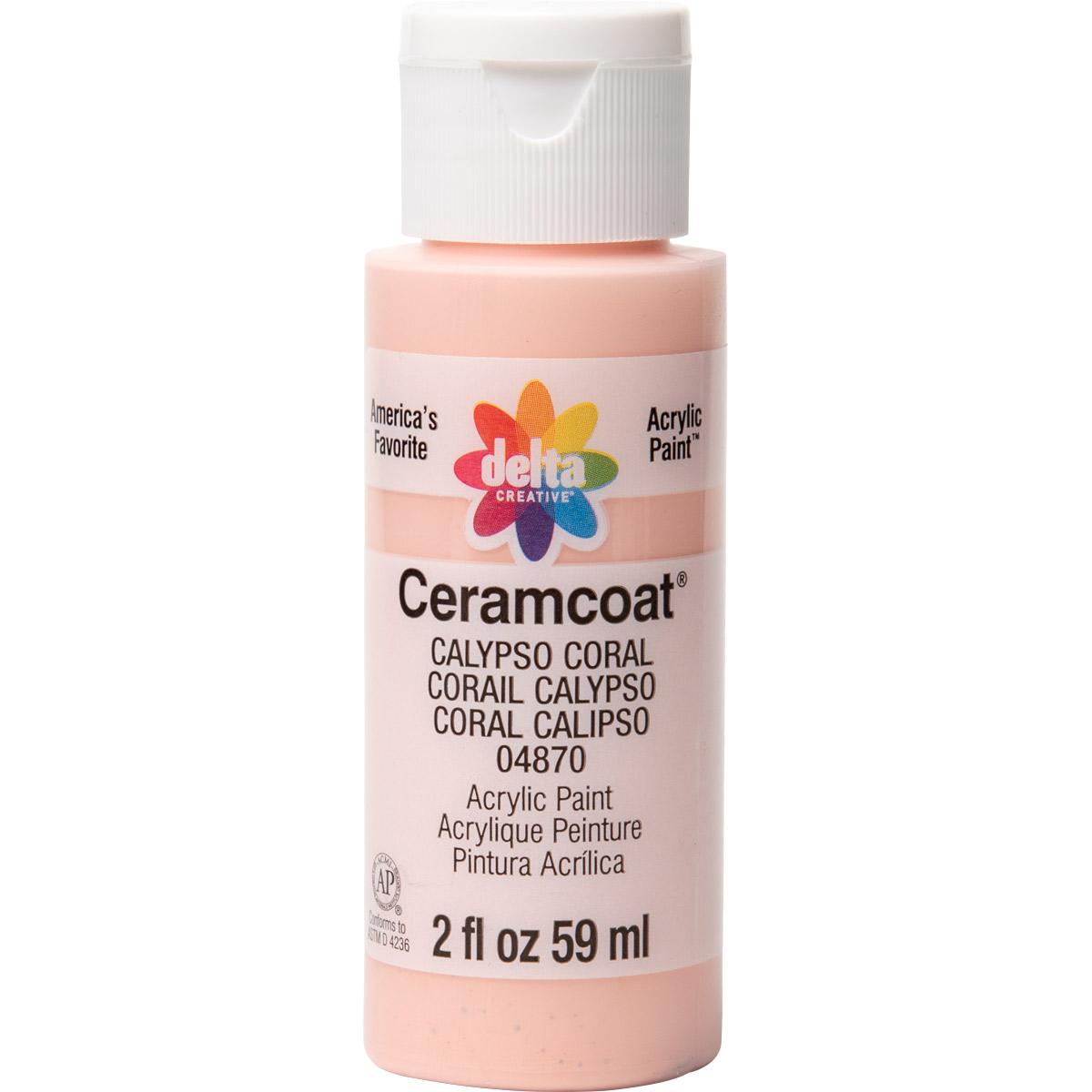 Delta Ceramcoat ® Acrylic Paint - Calypso Coral, 2 oz.
