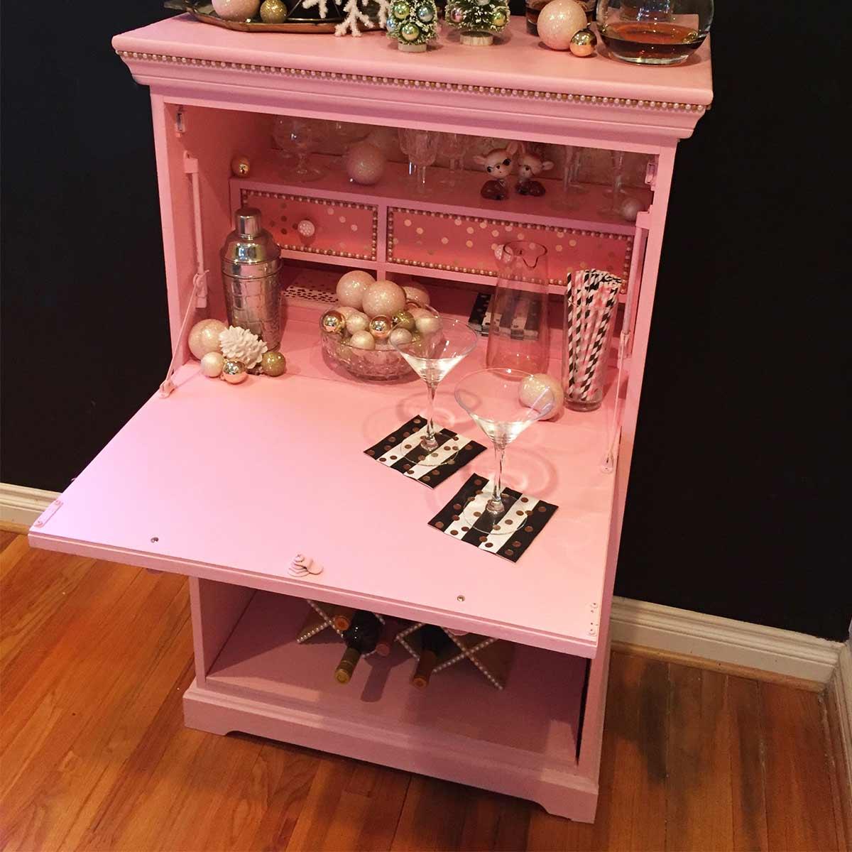 Upcycled Pink Martini Bar