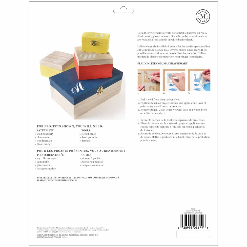 Martha Stewart® Adhesive Stencil - Greyton Script