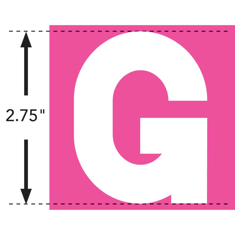 LaurDIY ® Iron-on Fabric Letters - G