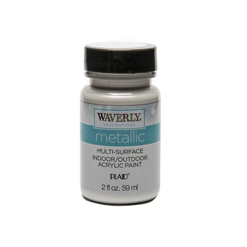 Waverly ® Inspirations Metallic Multi-Surface Acrylic Paint - White Opal, 2 oz. - 60697E