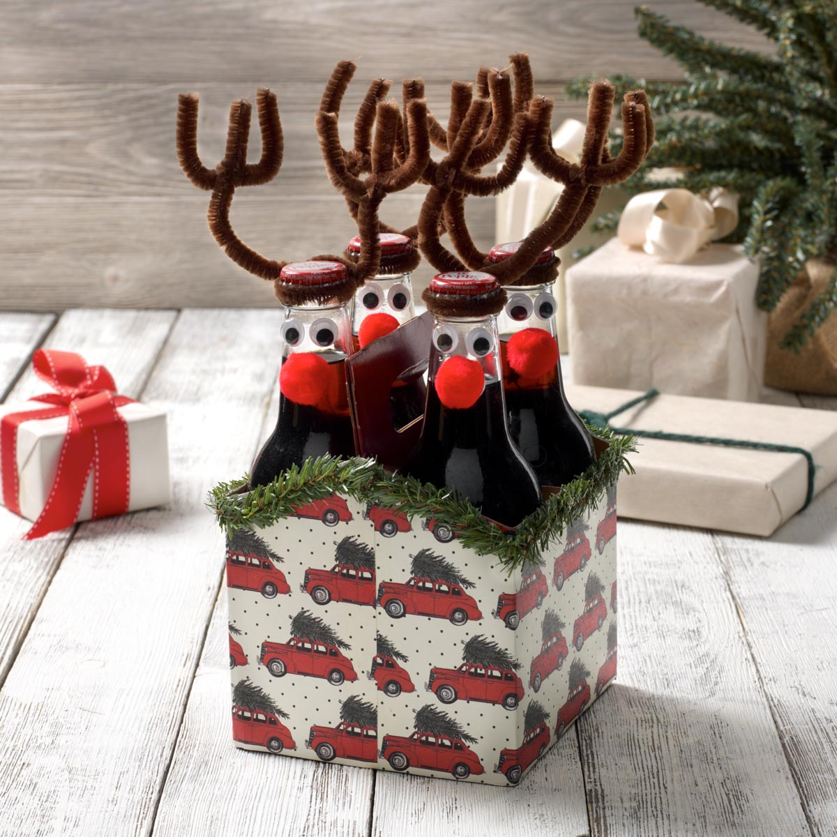Reindeer Six-Pack of Bottles