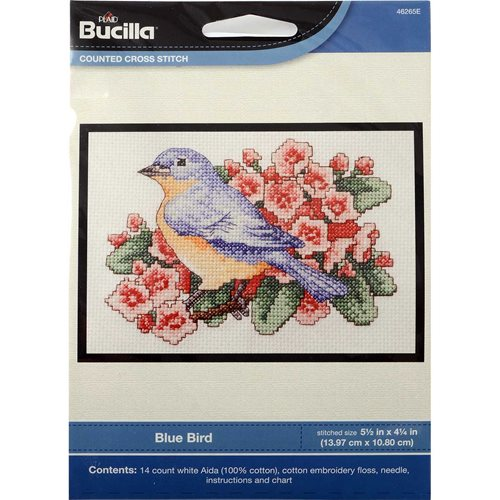 Bucilla ® Counted Cross Stitch - Picture Kits - Mini - Blue Bird