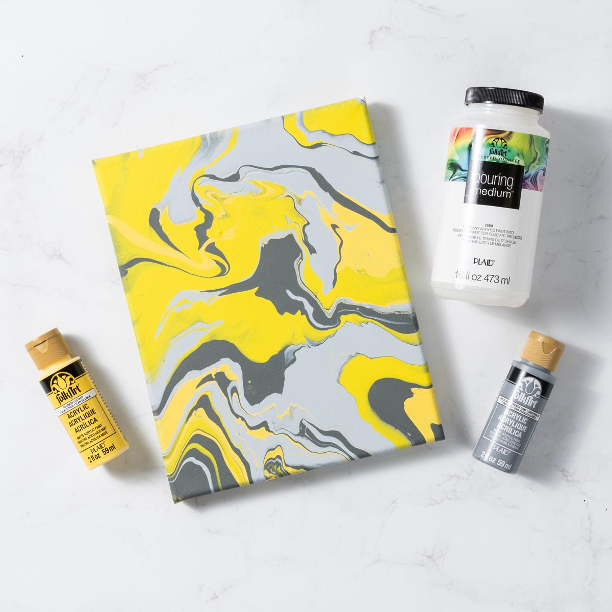 Pantone Color Of The Year Poured Canvas