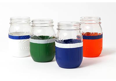 Super Football Party Jar Glasses