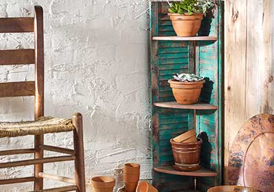 Patina Shutters Shelf Unit