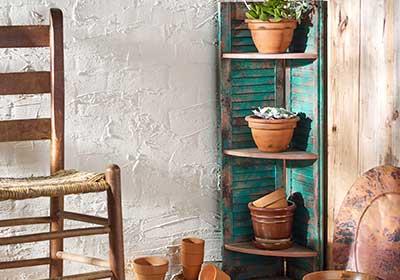 Patina Shutters Shelf Unit