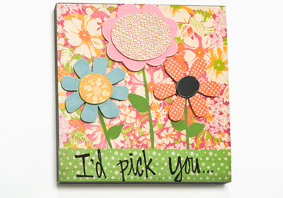 I'd Pick You Wood Canvas