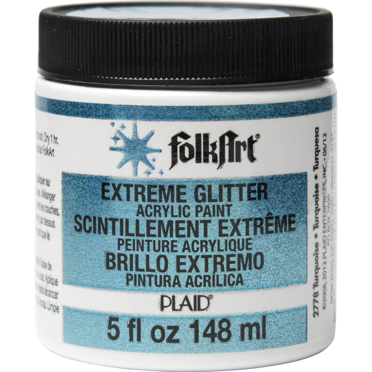 FolkArt ® Extreme Glitter™ - Turquoise, 5 oz.