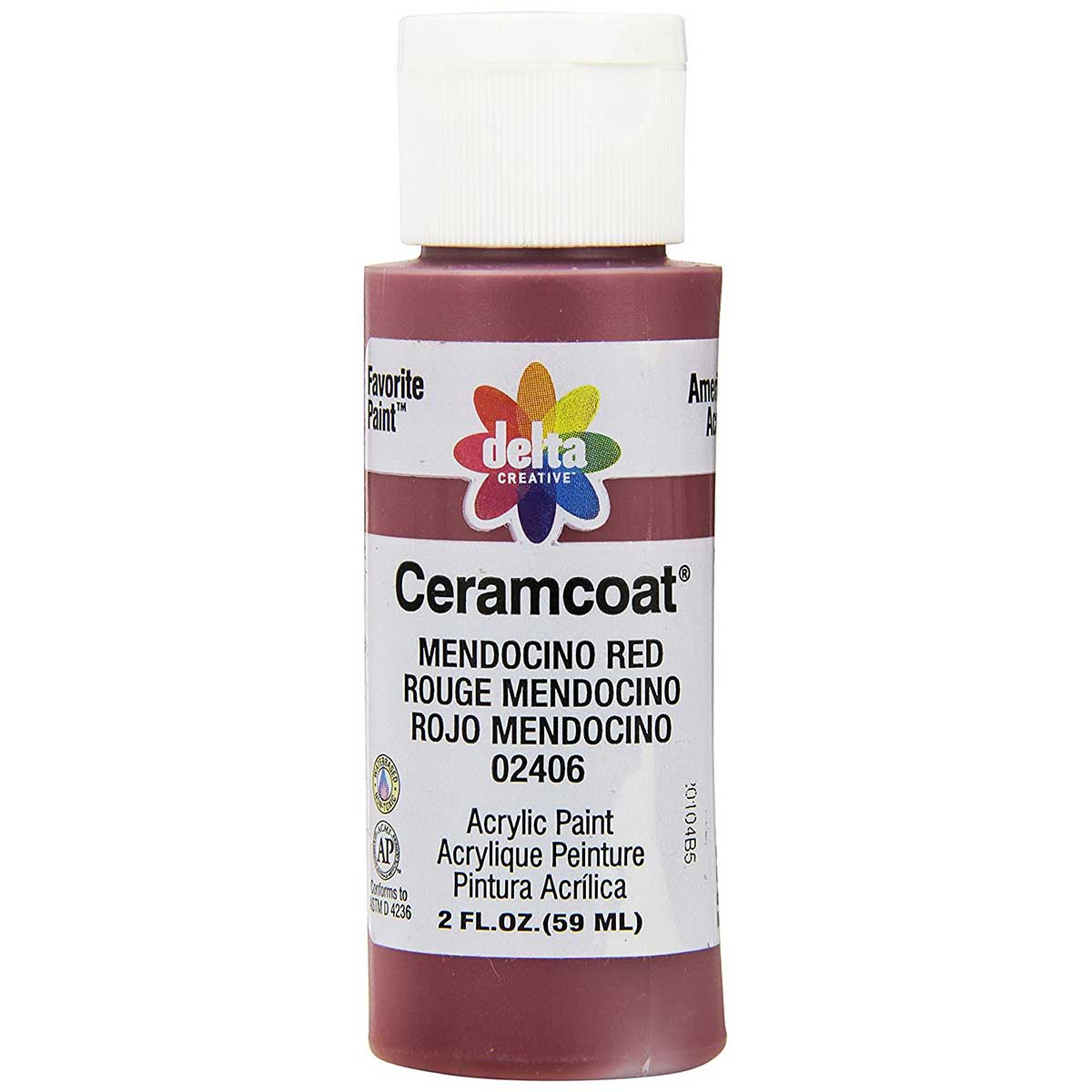 Delta Ceramcoat ® Acrylic Paint - Mendocino Red, 2 oz. - 024060202W