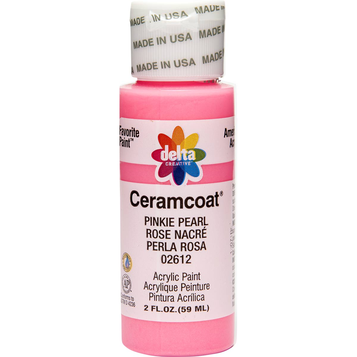 Delta Ceramcoat ® Acrylic Paint - Pinkie Pearl, 2 oz.