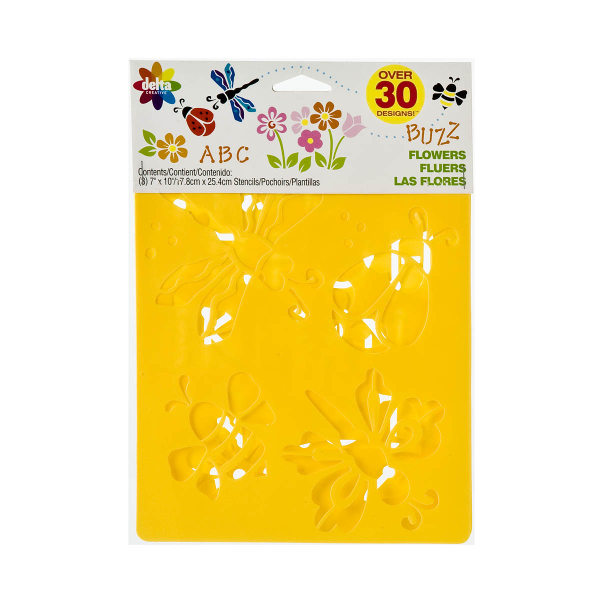 Delta Stencil Mania™ - Flowers 3 Pack - 970980056