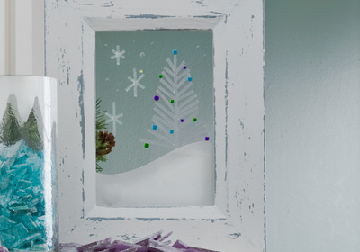 White Christmas Framed Art