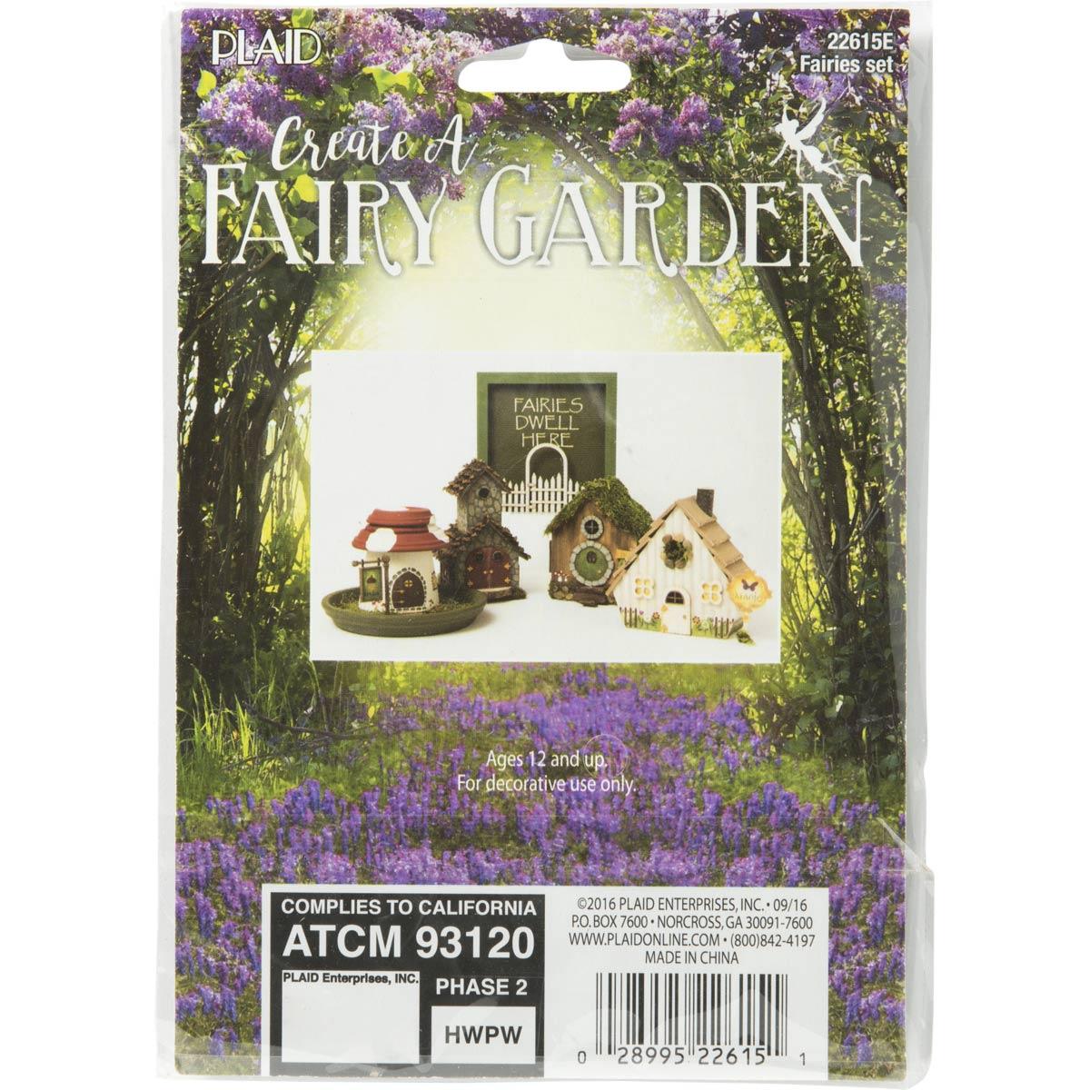 Plaid ® Wood Surfaces - Fairy Garden - Fairies 2 pc. - 22615E