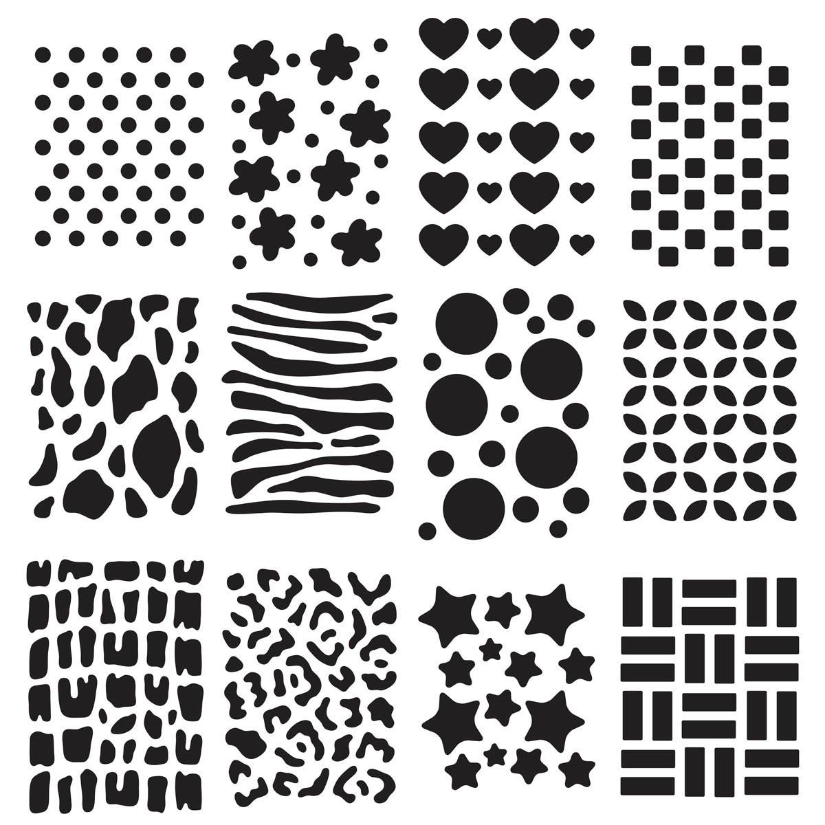 Plaid ® Craft Stencils - Value Packs - Backgrounds