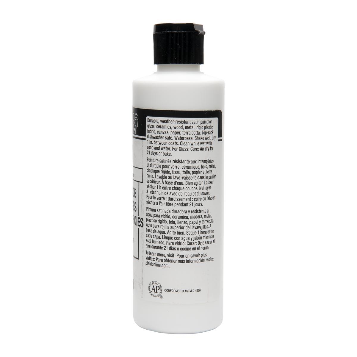 FolkArt ® Multi-Surface Satin Acrylic Paints - Titanium White, 8 oz.