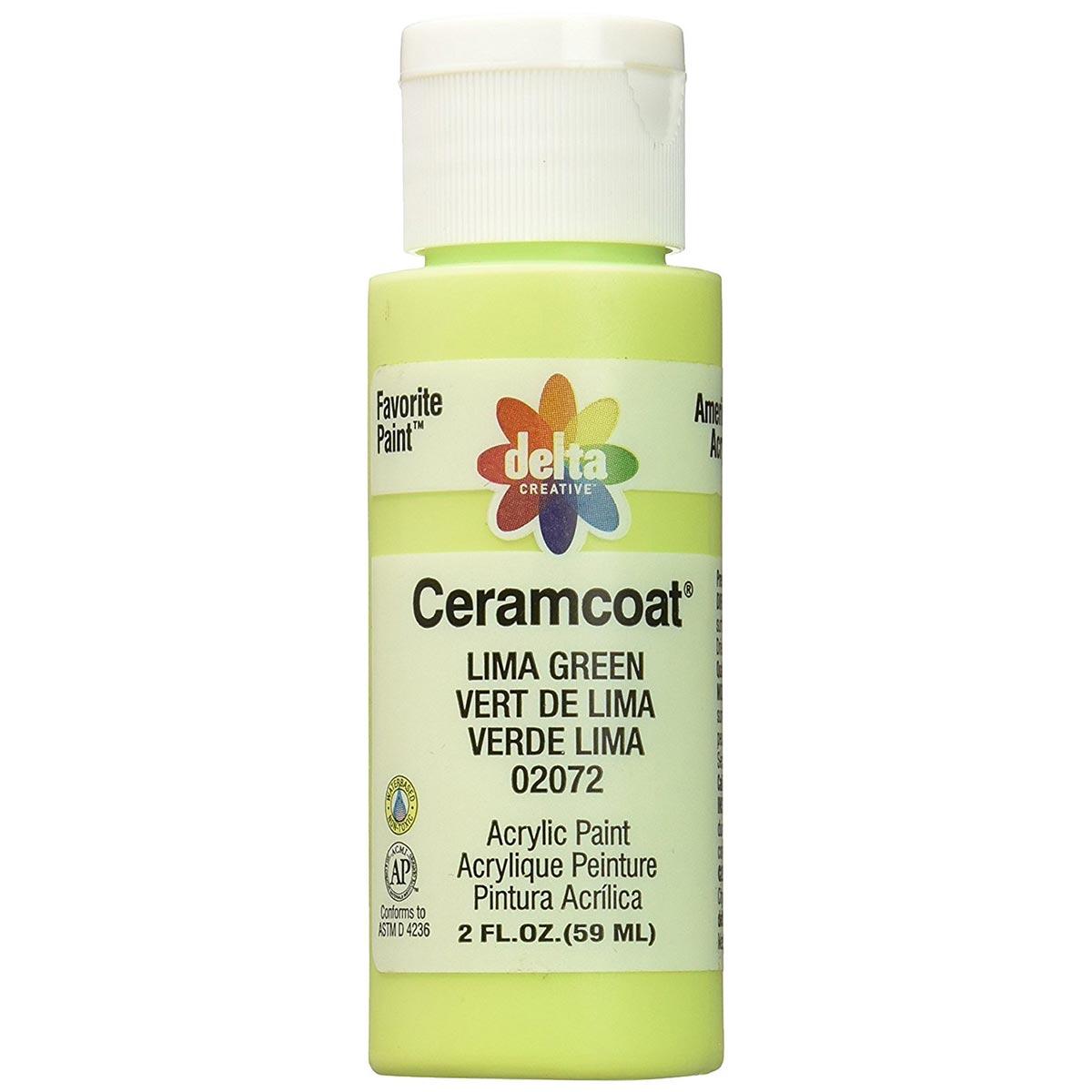 Delta Ceramcoat ® Acrylic Paint - Lima Green, 2 oz.