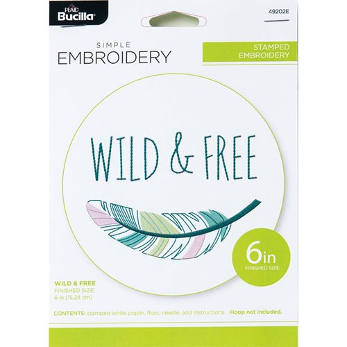 Bucilla ® Stamped Embroidery - Wild and Free - 49202E